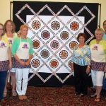 Lake County Quilters Guild 2015-2016 Raffle Quilt with Creator and Nanny-ettes